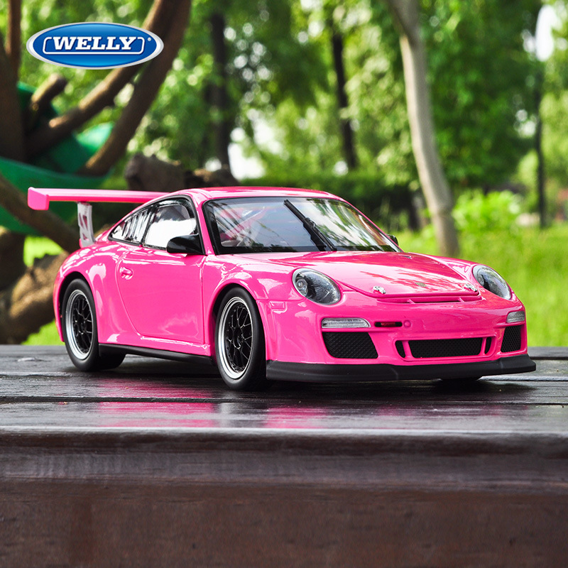 1 18 Simulation alloy sports car model For Porsc 911 GT3 CUP with Steering wheel control