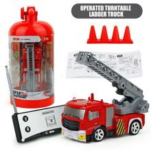 New Remote Control Ladder Fire Truck Simulation Mini Fire Engine Fire Truck Toys for Children Gift Rechargeable 40MHz RC Trucks(China)