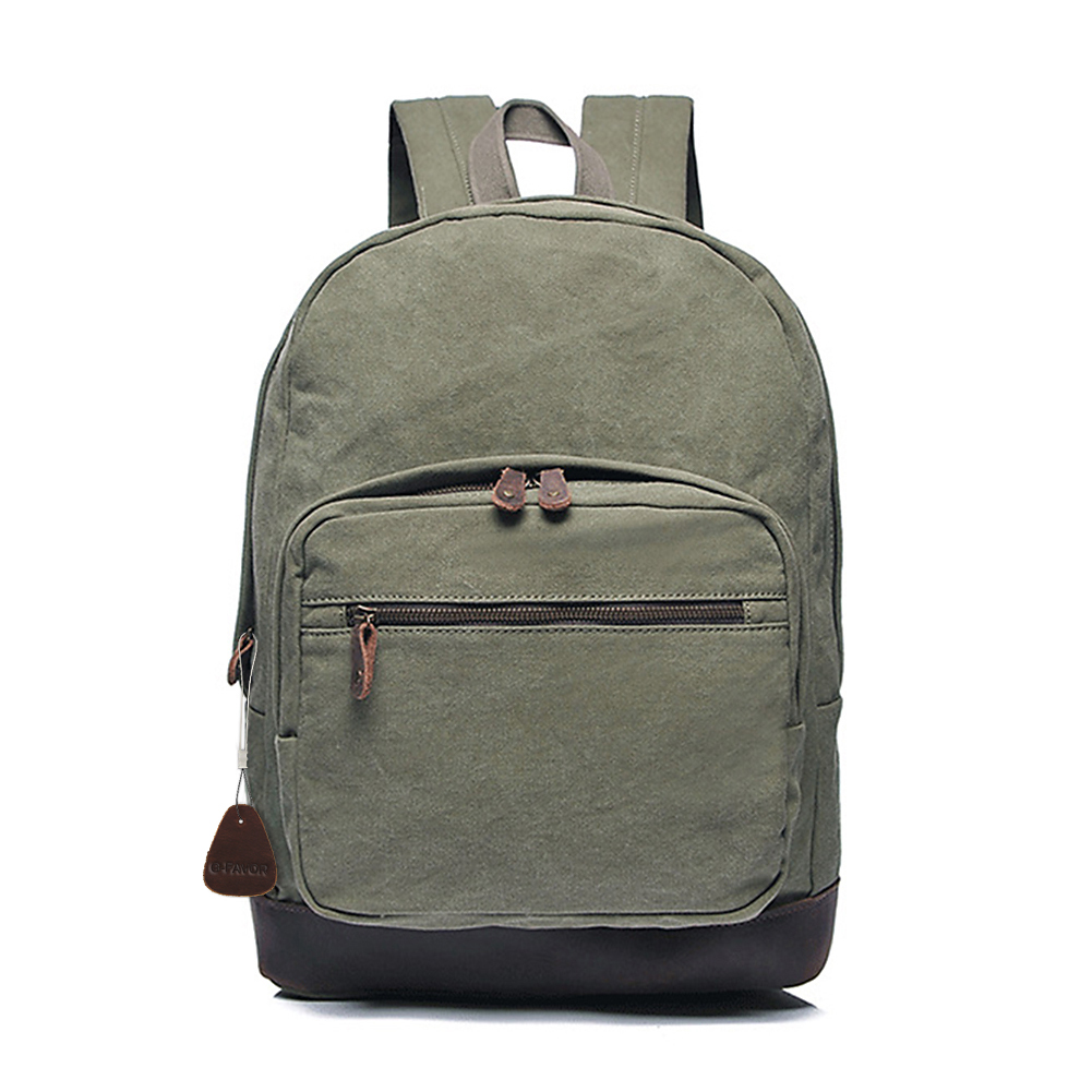 Ecocity Vintage Canvas Backpack Rucksack Casual Daypacks Backpacks ... 4b55e5b80332d