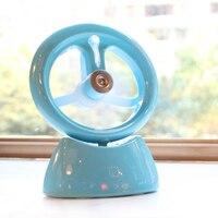 Usb Fan Handheld Portable Multifunction Rechargeable Humidifier Mini Usb Fan Home Cooling Fan