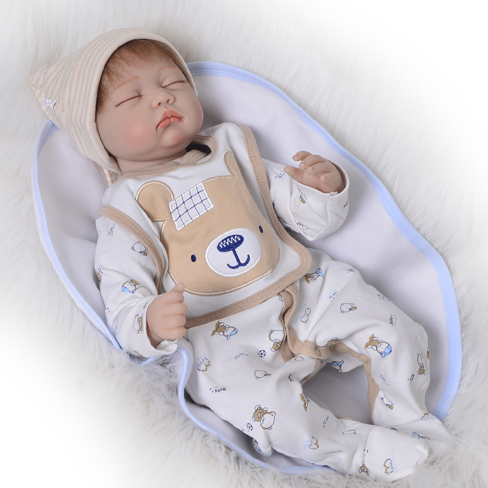 Hot Sale Lifelike Asleep Doll Reborn Real Baby Toy 22 Soft Silicone Vinyl Boneca Reborn 55 cm Boy Kids Birthday Gift PlaymateHot Sale Lifelike Asleep Doll Reborn Real Baby Toy 22 Soft Silicone Vinyl Boneca Reborn 55 cm Boy Kids Birthday Gift Playmate