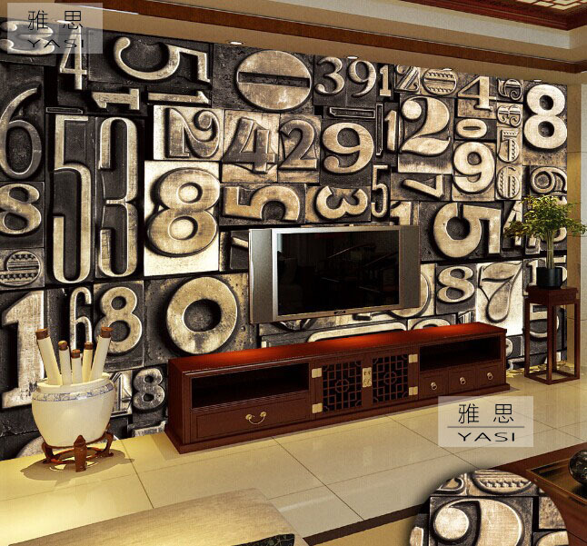 3d stereoscopic large living room tv backdrop wall mural for Digital wall mural