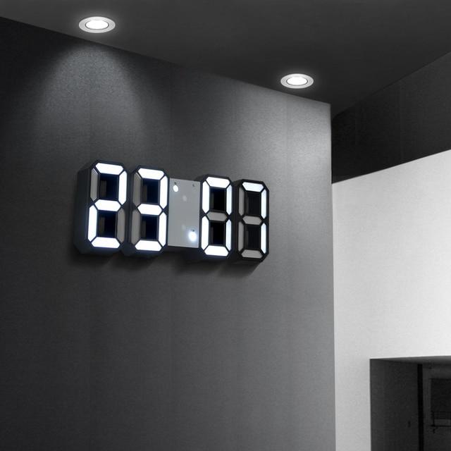 Digital LED Wall Clock Modern Design 3D LED Display Date Temperature Alarm Clock Wall Watch For Home Decor Reloj De Pared Office
