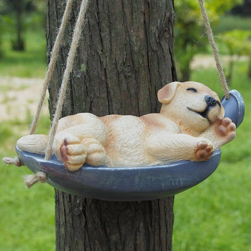 Пейзаж Сад украшения смолы животных кота собаки кулон украшение Скульптура ремесла орнамент умирает spinner
