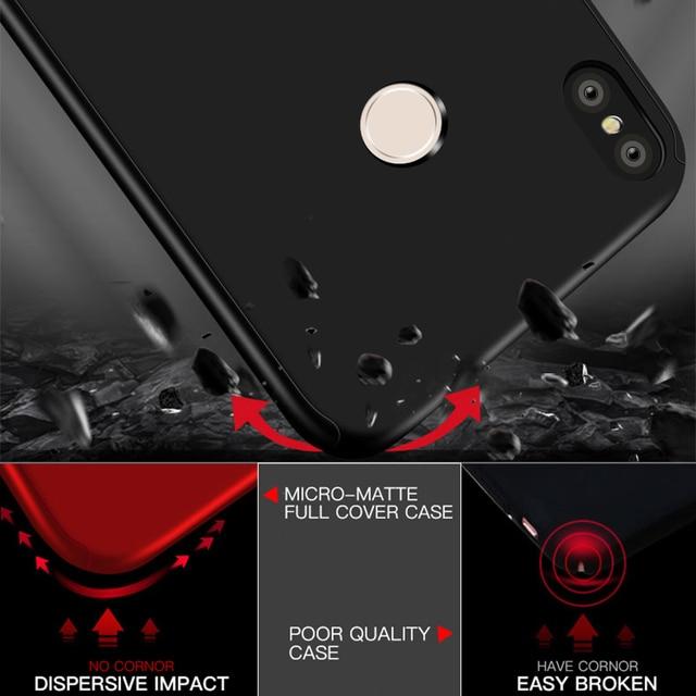 360 Full Cover Phone Case For Xiaomi Redmi Note 9S 9 8 7 6 5 4 Pro 8A 7A 6A 5A 4A 4X 5 Plus GO K20 K30 Hard PC Shockproof Funda