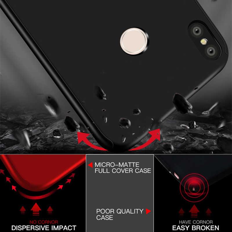 360 cubierta Funda de teléfono para Xiaomi Redmi Nota 9S 9 8T 8 7 6 5 4 Pro 9 9A 9C 8A 7A 6A 5A 4A 4X 5 PC a prueba de golpes a prueba Funda