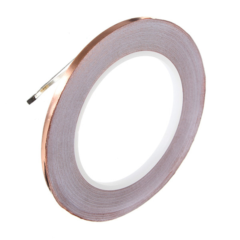 10mm*30m single sided Copper Foil EMI Shield Tape Conductive For slug and snail copper <font><b>Screening</b></font> Tape image