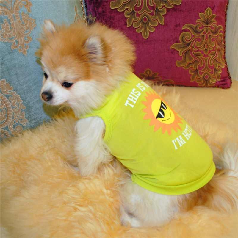 かわいいペットベスト服tシャツ製品犬用ペットブラウス衣装子犬シャツ犬のベスト