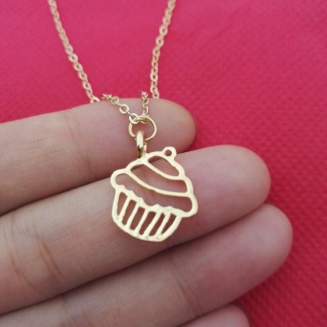 Beautiful little charm cupcake necklace necklaces simple food beautiful little charm cupcake necklace necklaces simple food necklaces pendants for best friends sanlan mozeypictures Images