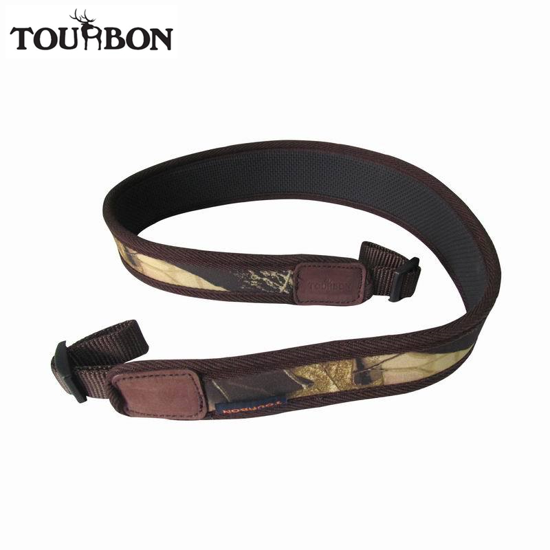 Tourbon Tactical Hunting Camo Rifle Sling Gun Strap Nylon Shotgun Belt Length Adjustable Shooting Gun Accessories tourbon tactical universal gun case hunting gun storage rifle shotgun carrier with lock gun accessories