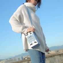 Unishow printing friut milk women shoulder bags mini phone wallet bags small pu leather female crossbody bag