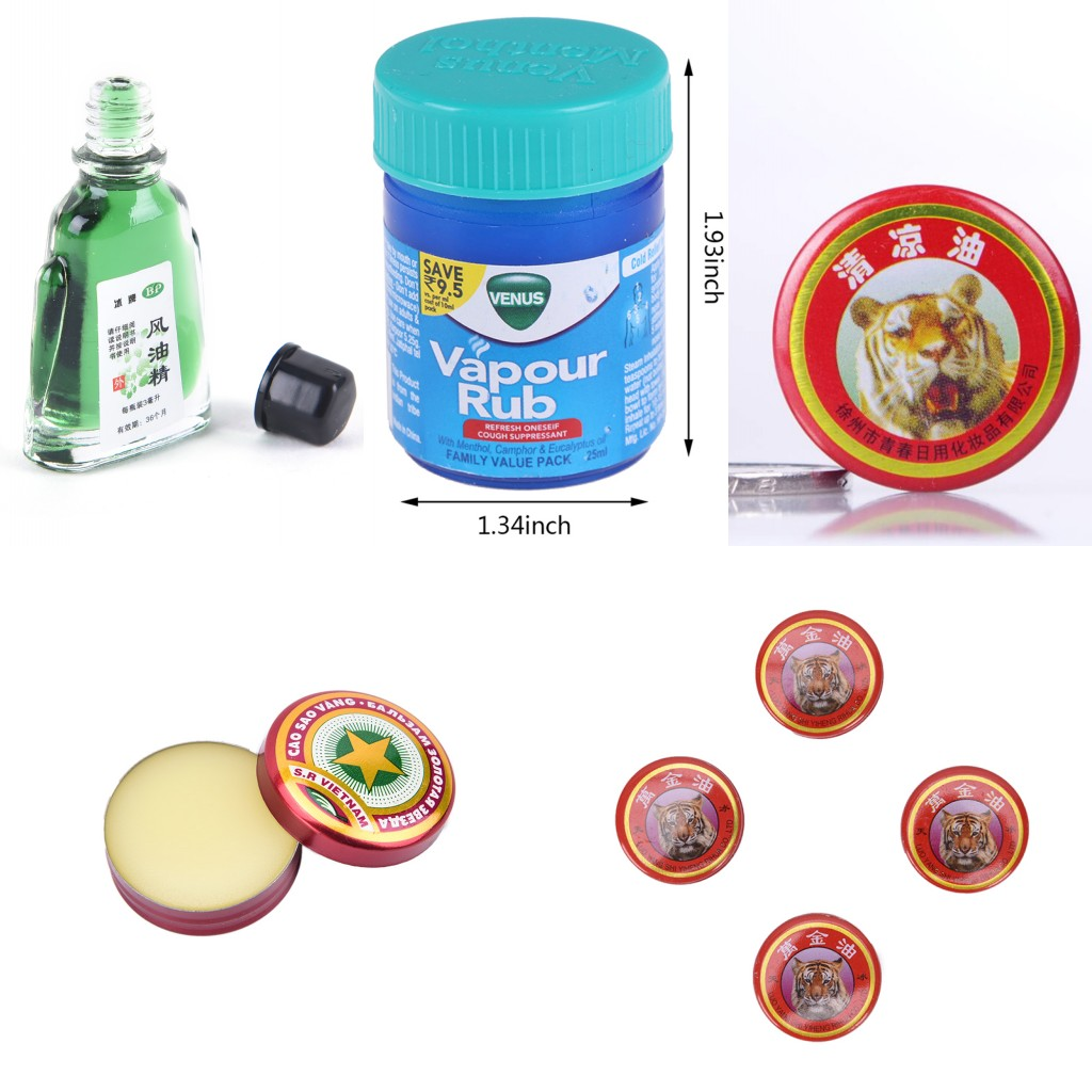 1Pc Heat Headache Dizziness Balm Ointment Golden Star Stuffy Nose Insect Stings Quik Relief Essential Balm Oil Tiger Balm