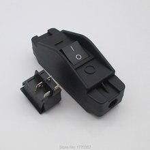 1 pces equipamento médico interruptores elétricos forno microondas de alta temperatura e alta corrente on line interruptor de cabo 16a 30a