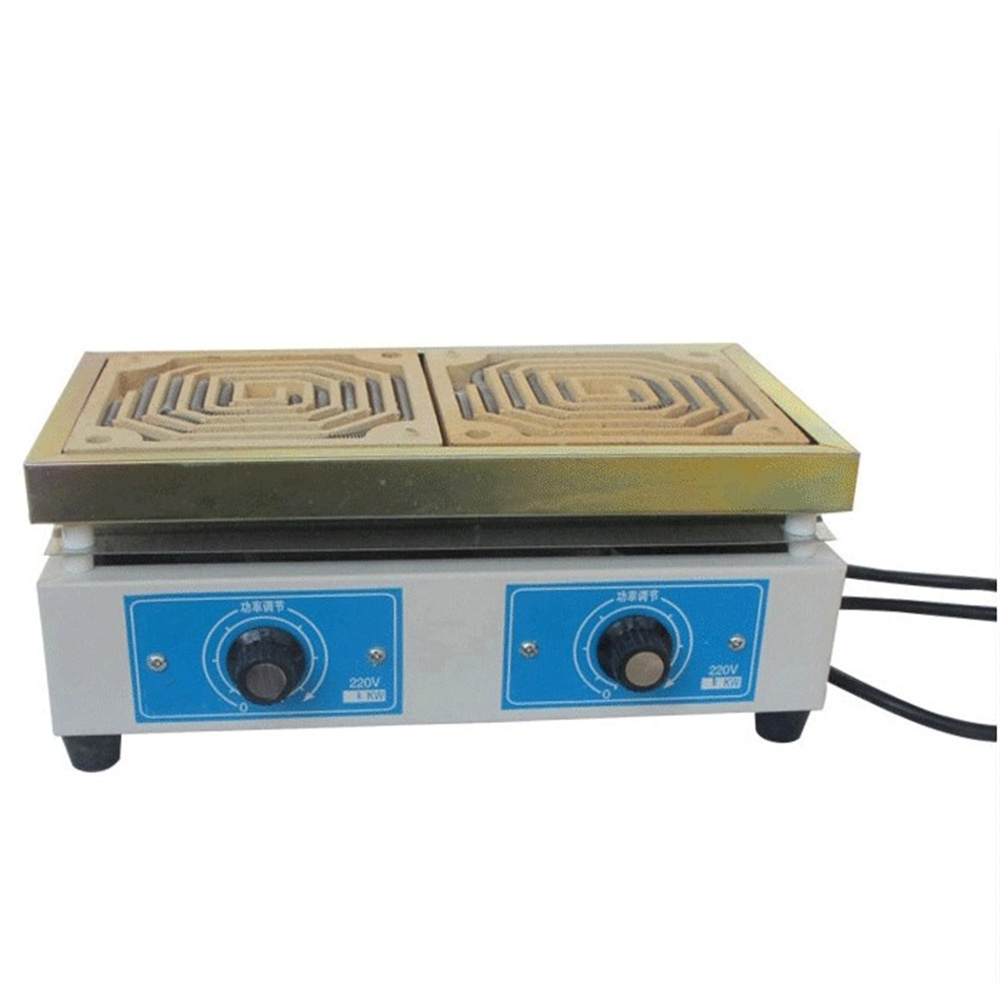 Double Layer Laboratory High Temperature Regulation Furnace Hot Plate Square 1000W Coil Hotplate  Laboratory Heating Equipments