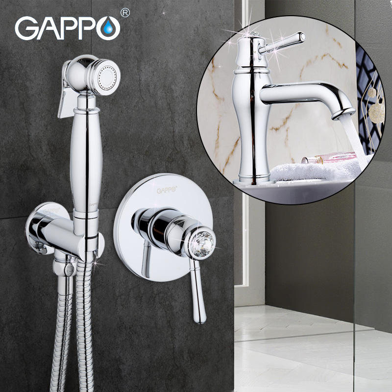 Gappo Kristall Badezimmer Bidet Bad Wasserhahn Toilette Bidet Sprayer  Messing Bidet Dusche Set Wandhalterung Bad Wasserhahn Mit Dusche GA1097 In  Gappo ...