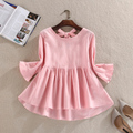 Women Shirts Looselt Half Sleeve Slim Back Iris Cotton Doll Sets Linen Blouse Shirt Sky Blue White Pink Red Green 3697