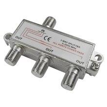 CLCU 3 way F plug splitter 1 into 3 out satellite sky signal splitter
