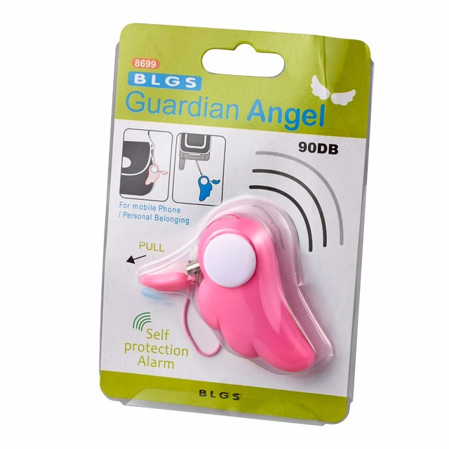 Self Defense Supplies Blue 90DB Personal Attack/Anti Rape Alarm Safety Personal Security for Girl Kids Children Protection