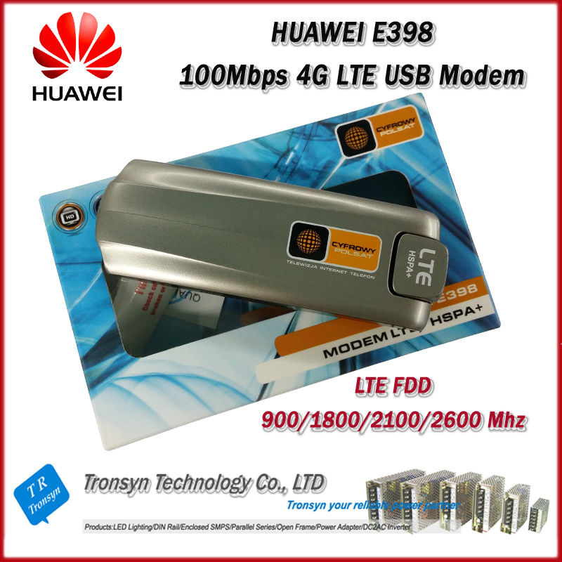 New Original Unlock 100Mbps HUAWEI E398 4G LTE USB Modem With Sim Card Slot Support LTE FDD 900/1800/2100/2600 Mhz new original unlock lte fdd tdd 150mbps huawei e8278 4g modem wifi router with sim card slot and 4g lte usb modem