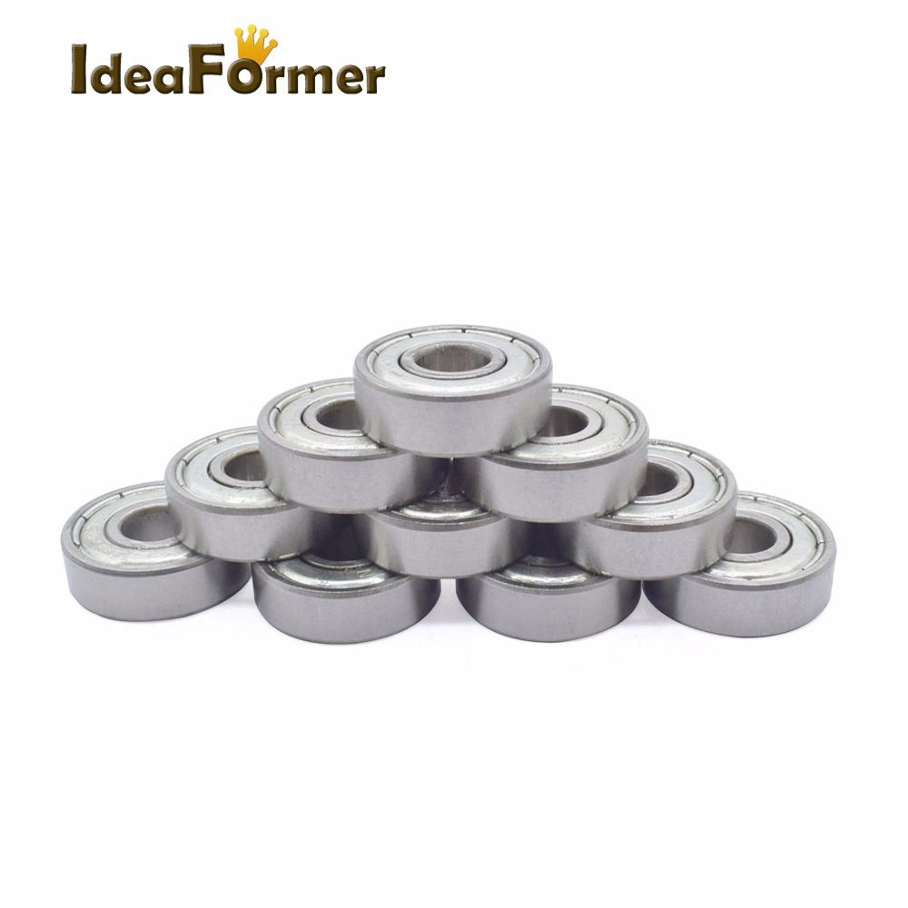 10pcs 623ZZ Bearing 623-ZZ 3x10x4 Miniature Deep Groove 623 2Z ZZ For 3d Printer Freeshipping 623Z