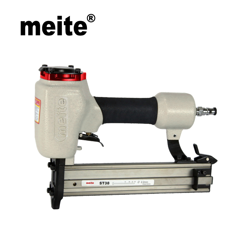Meite ST38 14 GA professional pneumatic nailer tools portable air concrete nail gun for nailing trunking n skirting Sep.3rd rongpeng professional brad nailer gun f50b with quick clear nose ga 18 f nails pneumatic tools