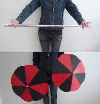 Magic Wand To Umbrella Cane Into Two Umbrellas Magic Tricks Magician Stage Gimmick Illusion Props Appearing Comedy