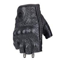 Genuine Leather Half Finger Motorcycle Gloves Scoyco Summer Motocross Racing Gloves Sheep Skin Goat Leather MC43