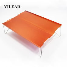 VILEAD Portable Mini Folding Camping Table Beach Hiking Picnic Travel 7075 Aluminum Ultralight Waterproof Foldable 35*25*10 cm