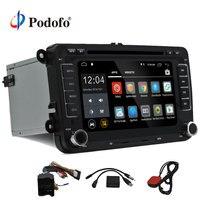 Podofo два Дин мультимедийный плеер Android 7,1 автомагнитолы для Volkswagen/VW/Passat b7Jetta/Гольф 5 6 dvd плеер gps аудио радио
