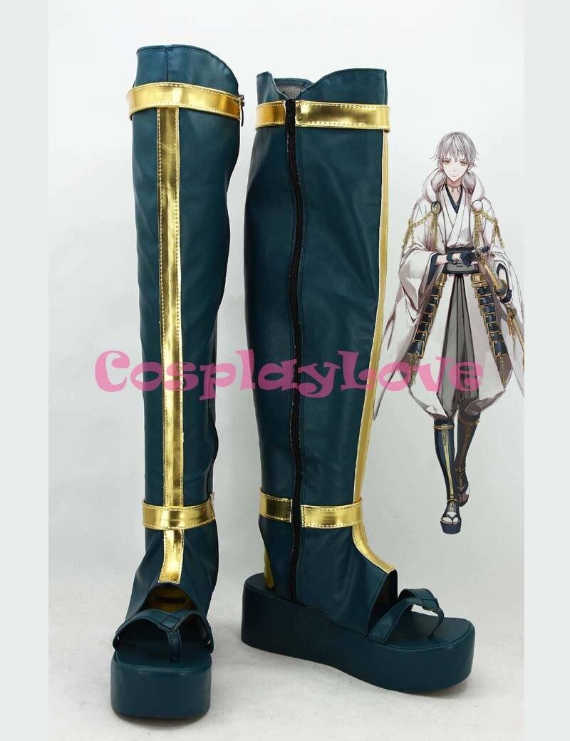 Custom Made Japanese Game Touken Ranbu Online Tsurumaru Kuninaga Cosplay Boots Cosplay Boots Shoes For Halloween Christmas