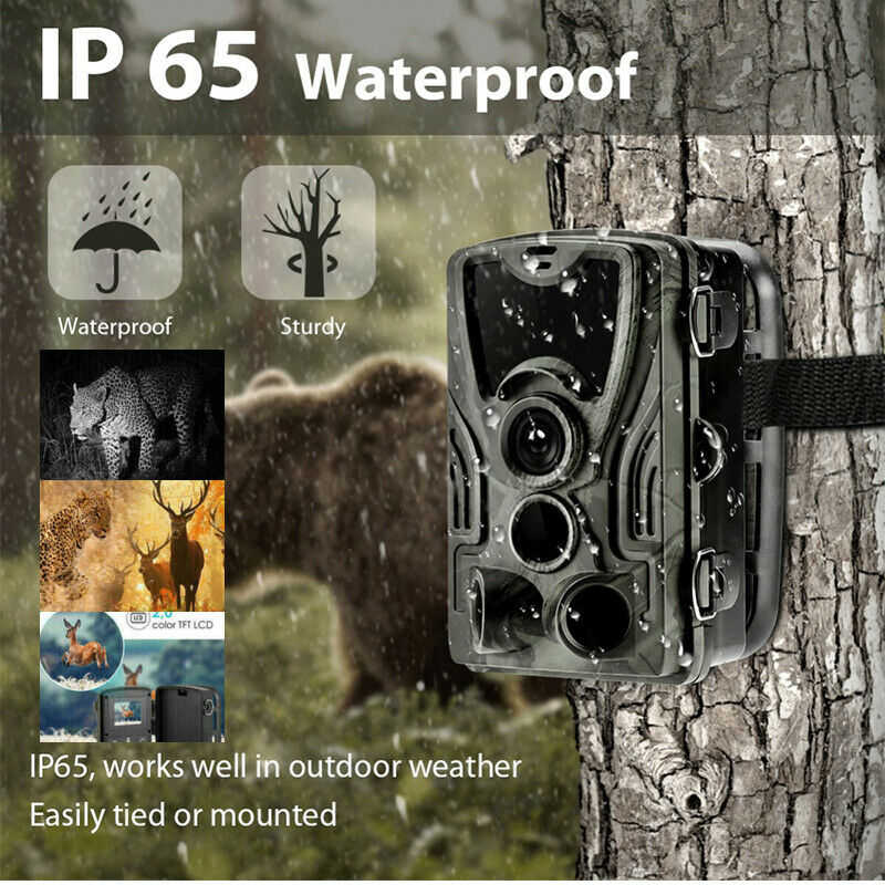 1080P 16MP Hunting Trail Camera Wildlife Scouting Cam IR Night Vision IP65 UK