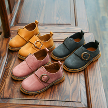 New Childrens Shoes in Spring British BoysShoes Casual Girls Single Fashion Leather