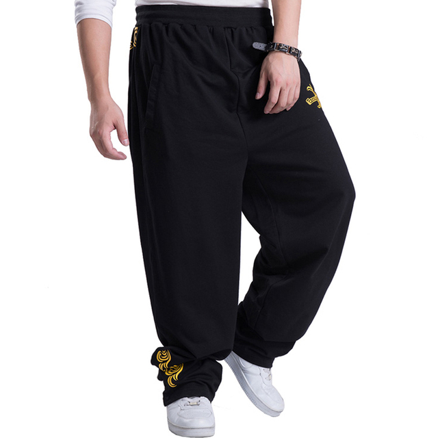 2016 New Mens Joggers Golden Printed Casual Baggy Hip Hop male Jogger Pants open air Sweatpants Men Trousers Pantalon Homme A161