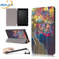 4 In 1 Luxury PU Leather Filp Smart Stand Painted Case For ASUS Zenpad 10 Z300C