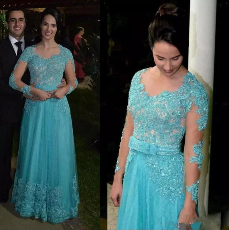 Luxury Mother Of The Bride Dress With Beading Sparkly Sequins Crystal Illusion Back Cpvered With Buttons Mothers Groom Dress