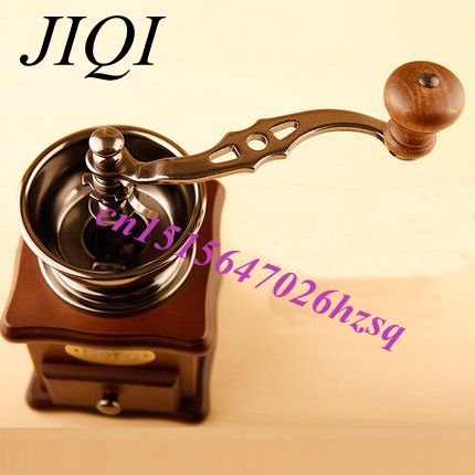 JIQI coffee grinder Hand Grinder Household Coffee beans Grinding machine Manual coffee machine grinder best gift for coffe lover cyboris sports wireless bluetooth earphone stereo earbuds headset bass headphones with mic in ear for iphone 7 for samsung s8