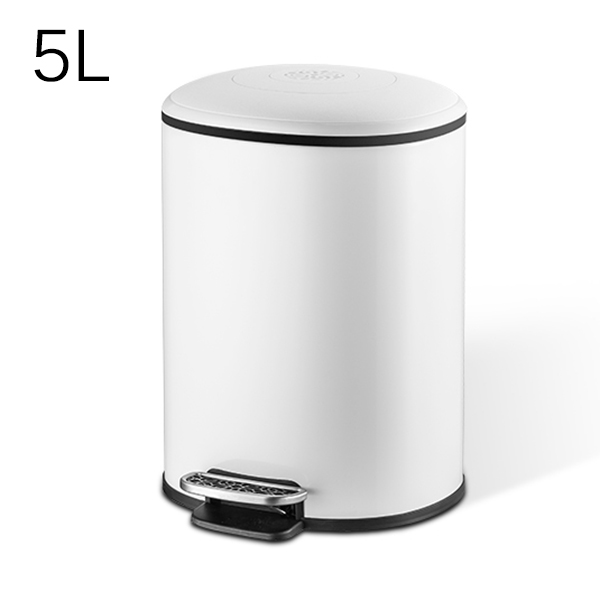 MR. BIN 5L/12L Классическая педаль мусорное ведро металлическое ведро и ABS Тихая корзина для мусора с крышкой современный простой домашний мусорный мусор - Цвет: 5L White