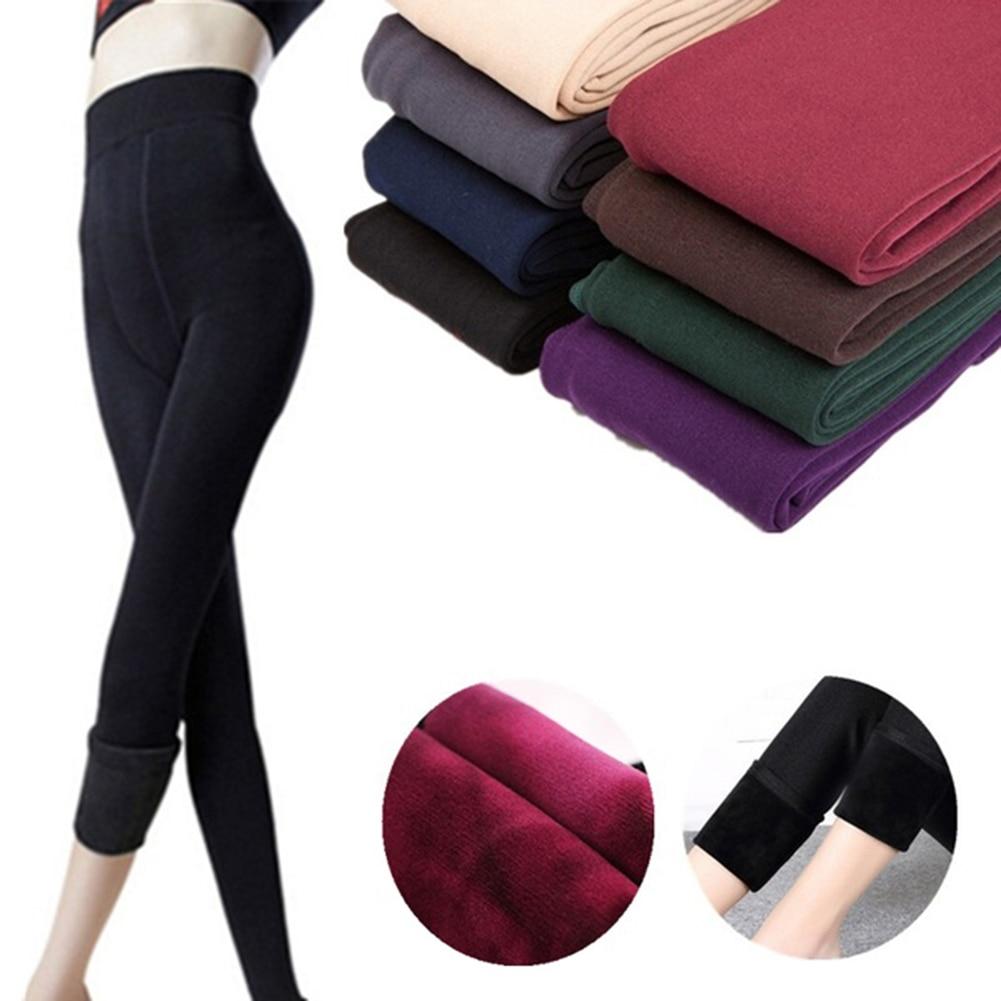Women Leggings inside Thicken Fur Warm Leggings womens winter fleece legging pants female velvet leggins