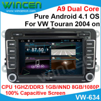 Android 4.1 Car DVD GPS Player for Volkswagen Touran 2004 2014 1080p Video Support thousands of Android Apps OBD DVR optional