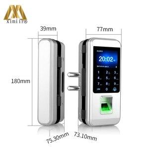 Image 5 - Smart Keyless Porta di Impronte Digitali Serratura Con Telecomando Per La Casa Ufficio Frameless Porta di Vetro di Controllo di Accesso XM 300