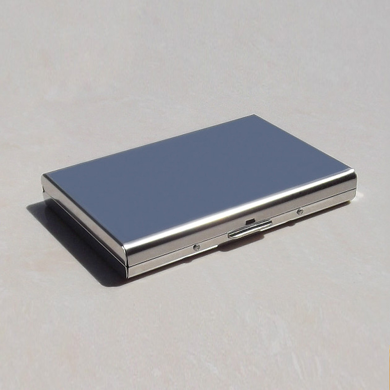 buy online c8126 abed6 US $8.9 |Stainless Steel Credit Card Holder with RFID blocking function  metal card case-in Card Holder & Note Holder from Office & School Supplies  on ...