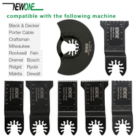 20PCS Oscillating Saw Blades Multitool Kit For Bosch Fein Black & Decker Makita