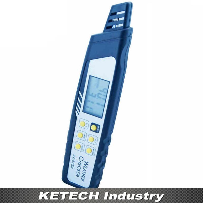 AZ-8750 Hot Heat Index Meter Measuring Temperature Humidity Atmospheric Pressure Dew Point Tester цена