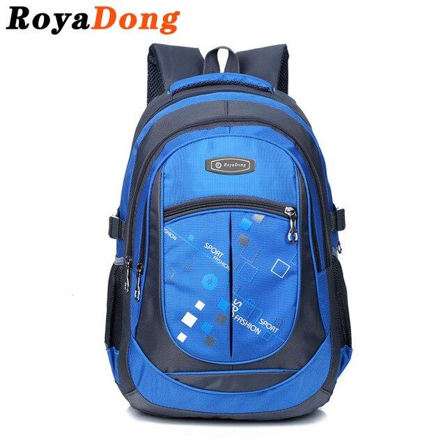 Royadong 2017 школьные сумки для подростков мальчиков девочек высокое качество дети студенты рюкзаки дети нейлон рюкзак для детей забронировать мешок