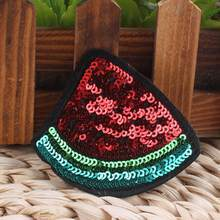 High Patch for Sequin As Collar Dress Embroidery Iron Sew Bags Badge Jeans Picture Applique Heel Shoe Hat Show(China)