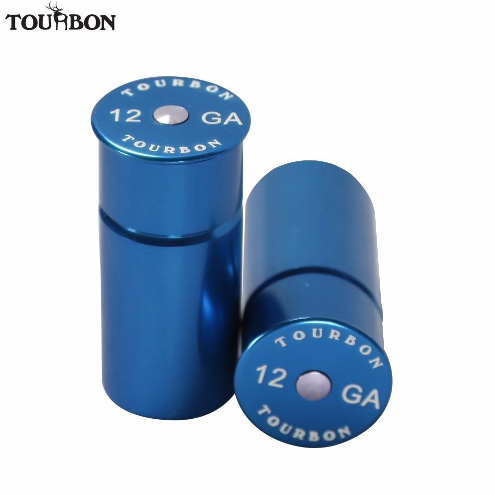 Tourbon Hunting Gun Accessories Tactical Aluminum 12Gauge Shotgun Snap Cap Two Shooting Training Dry Firing 2 Rounds Reusable