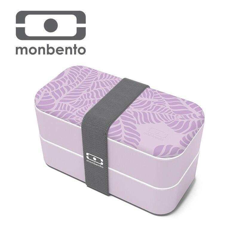 Monbento Haute Qualité Saine En Plastique Boîte À Lunch 1000 ml Bento Boîtes Food Container Vaisselle Boîte À Lunch Couverts