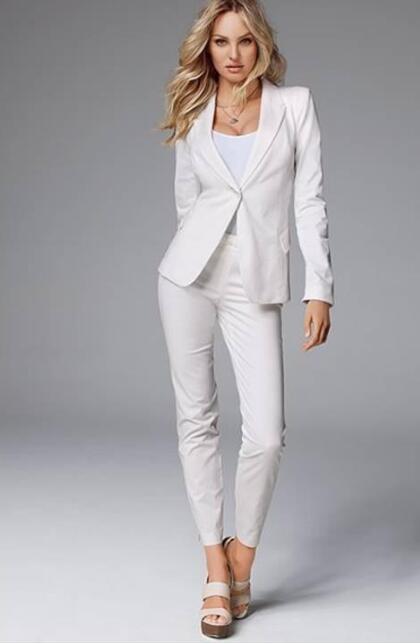 60% de descuento 60% de liquidación lindos zapatos Verano dama chaqueta blanca de solapa de pico trajes ...