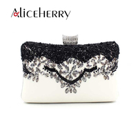 Aliceherry luxury handbags women bags designer bead clutches ladies chain wedding party evening bags female shoulder makeup bag