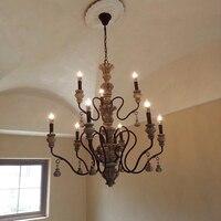 Amerikaanse Retro Kroonluchters rustieke traditionele Nostalgische Ijzeren Art Slaapkamer Eetkamer Led Lamp Creatieve Lampen Plafond Kroonluchter